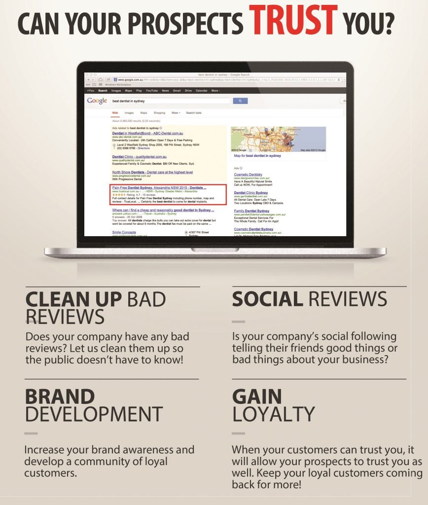 showing your reviews from past clients 780-996-0043