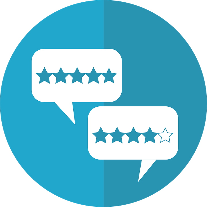 review icon showing the sharing of reviews helps local businesses